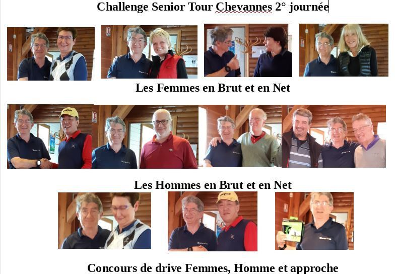 Résultats 2° Senior Tour à Chevannes