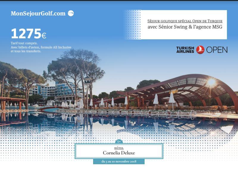 Turkish Open 2018 – Golf et détente