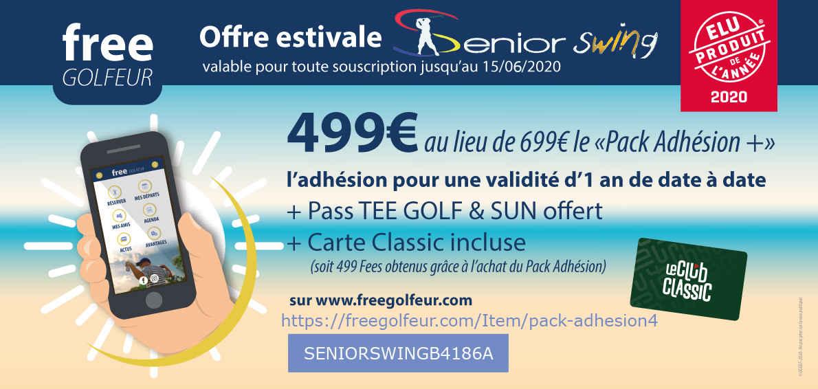 Offre estivale Free Golfeur Senior swing